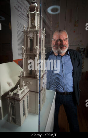 Wieland Eschenburg one of the directors from the project to rebuild Garnisonkirsche, Potsdam, Germany - Stock Photo