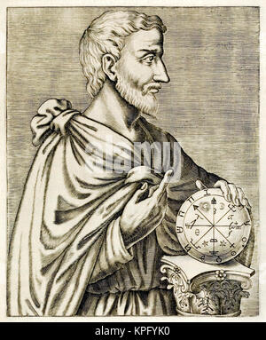 Pythagoras of Samos (570-495BC) Ionian Greek philosopher, mathematician, and founder of the religious movement called - Stock Photo