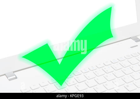 Internet security, secure computer network protected from internet virus - Stock Photo