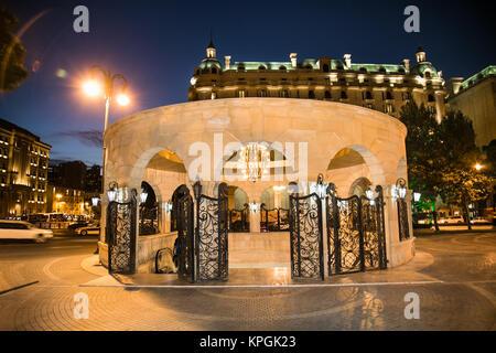 Entrance in down town (Icheri Sheher) metro station, Baku, Azerbaijan - Stock Photo