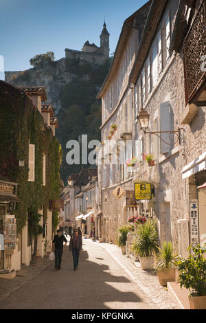 France, Midi-Pyrenees Region, Lot Department, Rocamador, lower town - Stock Photo