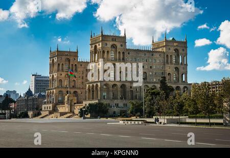 Government house of Azerbaijan in Baku city, Azerbaijan. - Stock Photo