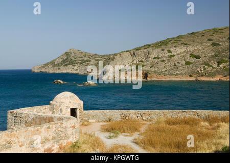 GREECE, CRETE, Lasithi Province, Spinalonga Island: 16th Century Venetian Fortress, Detail - Stock Photo