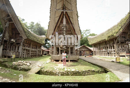 Kete Kesu Village in Tana Toraja. Kete Kesu village is part of a culture conservation program and known as one area - Stock Photo