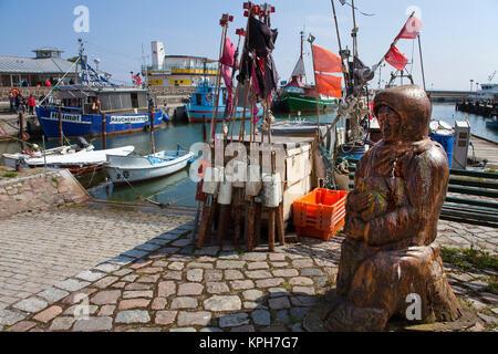 Harbour of Sassnitz, Ruegen island, Mecklenburg-Western Pomerania, Baltic Sea, Germany, Europe