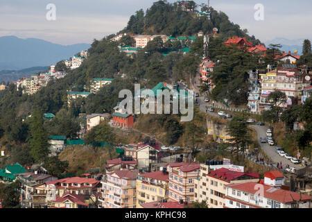 View of Shimla in Himachal Predesh, India - Stock Photo