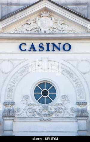 Spain, Cantabria Region, Cantabria Province, Santander, detail of the Casino - Stock Photo