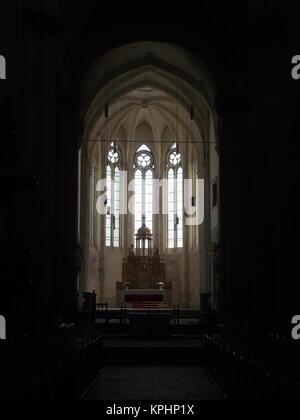 Altar in the Coronation Cathedral, Alba Iulia, Romania - Stock Photo