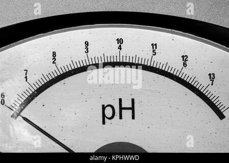 Old vintage PH meter - Stock Photo