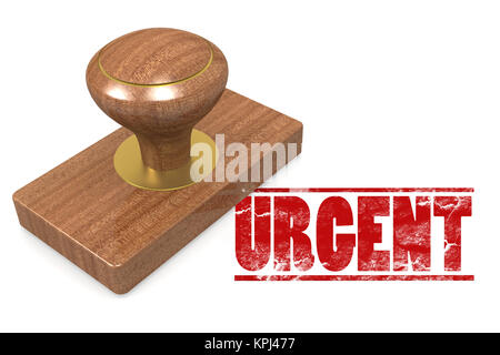 Urgent wooded seal stamp - Stock Photo