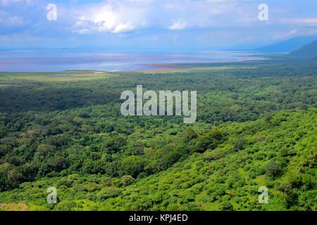 Lake Manyara National park in Mto wa Mbu in the rift valley, Tanzania - Stock Photo
