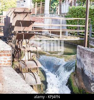 Water mills wheel - Stock Photo