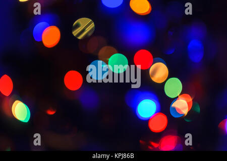 Christmas abstract blurred background. Multi-colored lights. Unfocused image - Stock Photo