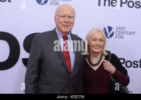 Patrick Leahy arrives at 'The Post' Washington, DC Premiere at The Newseum on December 14, 2017 in Washington, DC. - Stock Photo