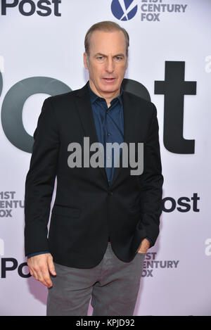 Bob Odenkirk arrives at 'The Post' Washington, DC Premiere at The Newseum on December 14, 2017 in Washington, DC. - Stock Photo