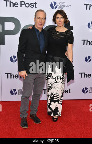 Bob Odenkirk and Naomi Odenkirk arrive at 'The Post' Washington, DC Premiere at The Newseum on December 14, 2017 - Stock Photo