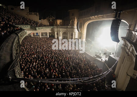 London, UK. 15th Dec, 2017. Mogwai performing live on stage at Brixton O2 Academy in London. Photo date: Friday, - Stock Photo