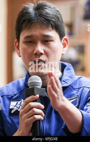 Baikonur, Kazakhstan. 16th Dec, 2017. ISS Expedition 54/55 crew member, Japanese astronaut Norishige Kanai of JAXA, - Stock Photo