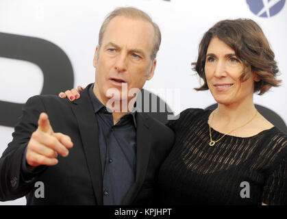 WASHINGTON, D.C. DECEMBER 14: Bob Odenkirk and Naomi Odenkirk at the premiere of 'The Post' on December 14, 2017, - Stock Photo