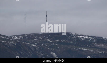 Divis Mountain Belfast Northern Ireland UK. 16 December 2017. UK weather - another cold day with little wind and - Stock Photo