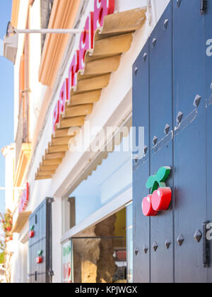 IBIZA, SPAIN - MAY 23, 2015. The shop of Pacha products in the Ibiza harbor. - Stock Photo