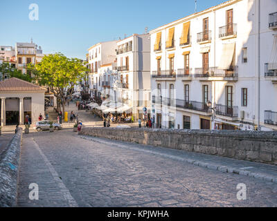 Ibiza, Spain - May 23, 2015. Entry to the Ibiza old town, called Dalt Vila. - Stock Photo