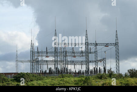 Power grid station, East London, Eastern Cape, South Africa. - Stock Photo