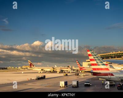 MIAMI, USA - SEPTEMBER 19, 2015: View of the Miami Airport, known as MIA. Miami international Airport is the primary - Stock Photo