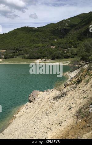 Turano lake, province of Rieti, Lazio, Italy. - Stock Photo
