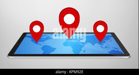 Modern digital GPS - Stock Photo