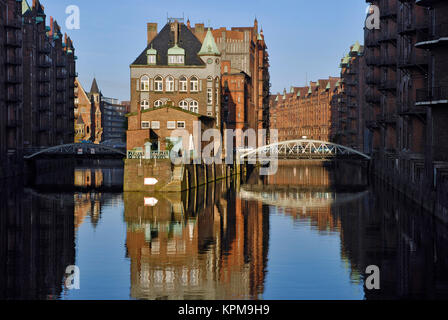 Hamburg, one of the most beautiful and most popular tourist destinations in the world. Speicherstadt, world cultural - Stock Photo
