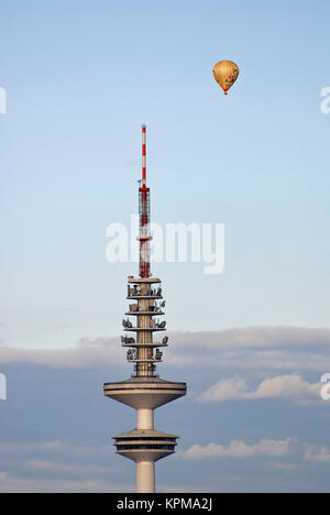 Hamburg, one of the most beautiful and most popular tourist destinations in the world. The TV Tower Heinrich Hertz - Stock Photo