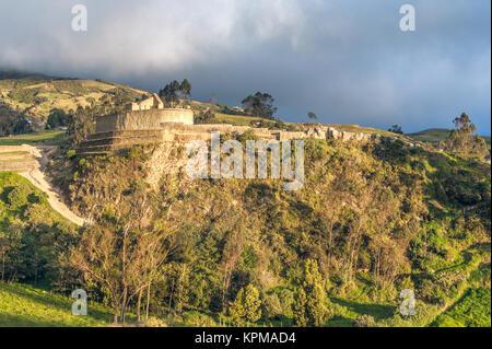 Ingapirca, largest known Inca ruins in Ecuador - Stock Photo