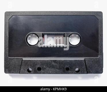Black tape cassette - Stock Photo