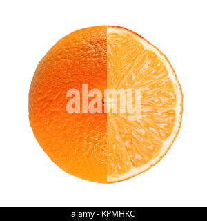 Orange fruit full and sliced - Stock Photo