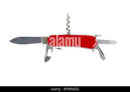 Multipurpose knife isolated on white - Stock Photo
