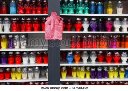 Lampions on shelves - Stock Photo