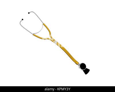 exempted stethoscope - Stock Photo