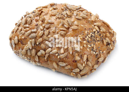 bun sandwich wholemeal isolated exempted for breakfast cut - Stock Photo