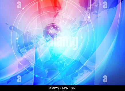 Global Internet Connections Background - Stock Photo