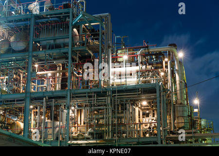 Industry factory in kawasaki at night - Stock Photo