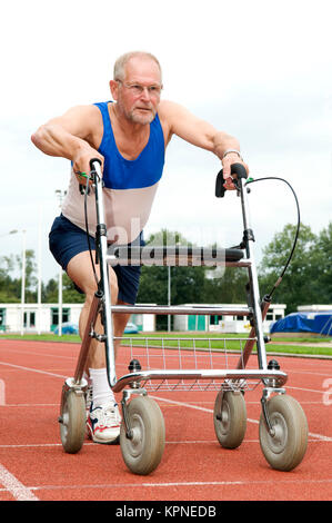 Active Senior With Walker - Stock Photo