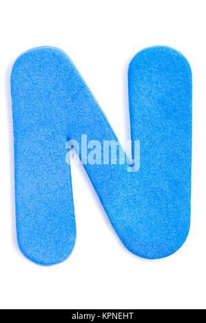 Foam letter N - Stock Photo