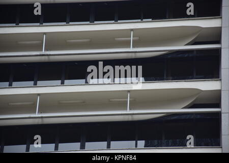 Detail of the facade of a contemporary high-rise building in Hong Kong, China - Stock Photo