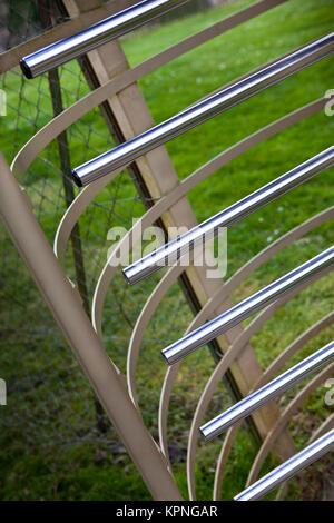 Close up of a security gate