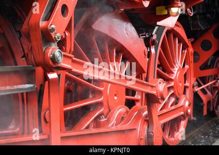 Closeup of train wheels -3 - Stock Photo