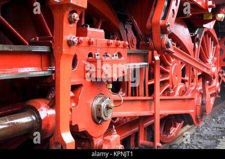 Closeup of train wheels -1 - Stock Photo