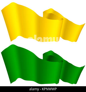 Flags Fluttering in the Wind - Stock Photo