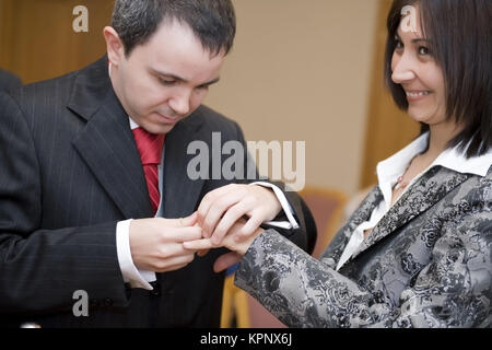 Model release , Standesamtliche Trauung - married in a civil ceremony Stock Photo