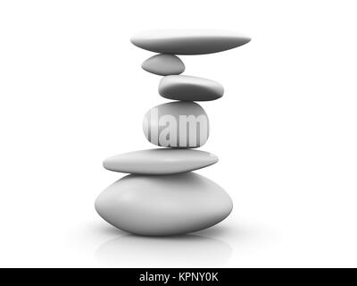 3D Illustration. Isolated on white. - Stock Photo